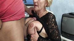 Granny fucked by horny stepson