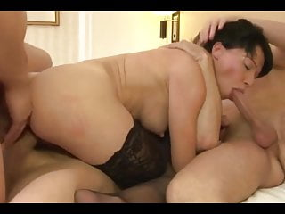 Hot French Mature Dble Vag MMMF Foursome