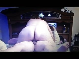 wife riding me with her big ass rocking on my cock,creampie