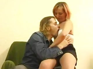 Skiny Redhead Mature love sex with young guy