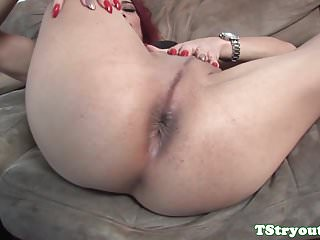 Preview 4 of Mature casting redhead TS gets cum in mouth