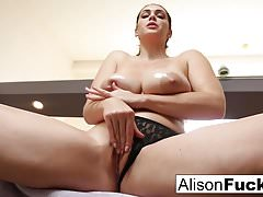 Stacked for days Alison Tyler helps the viewer cum
