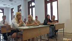 College students fuck their professor in classroom hardcore's Thumb