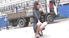 Russian beauties flashing in public