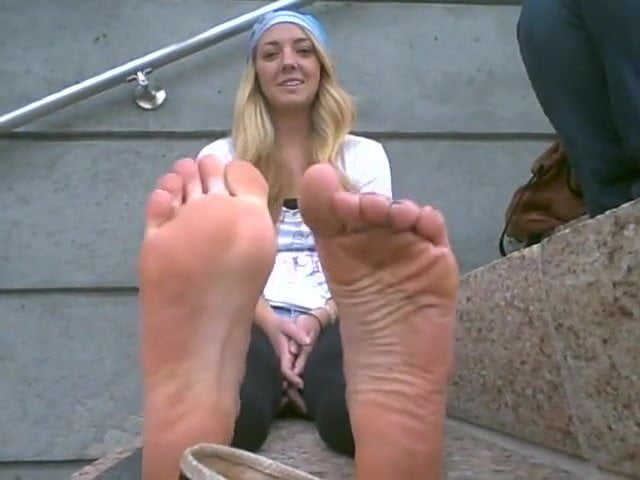 cute blond stinky feet