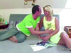 MILF Step-Mom Seduce  teen to Fuck her Anal