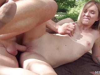 German Scout Blonde College Teen Seduce To Fuck Public