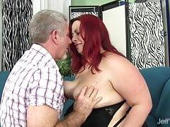 Redhead plumper Phoenix Redd hardcore sex