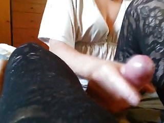 Mature milking young hard cock