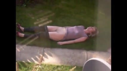 Neighbors pool sunbathing