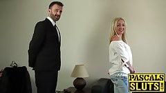 Blonde_nympho_Amber_Deen_masturbates_in_front_of_two_guys porn image