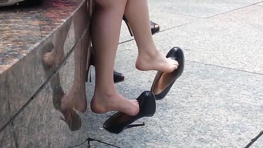 Long Legs High Heels Brunette