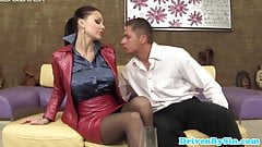 Big titted european glam skank loves dp