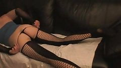 TaraCrossdress poses in sexy overknees and mini dress!!