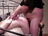 A young girl get spanked and hard fucked by an olderly pervo