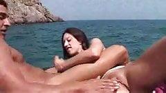 Threesome on a boat  FM 14