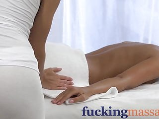 Massage Rooms Young girl has session with blonde lesbian