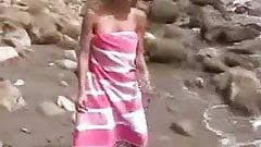 Nude Beach - Nice Exhibitionist Mastubating