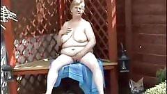 Granny fingering outdoor