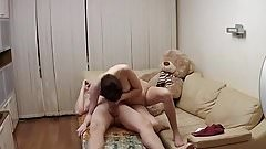 She make blowjob for her BF - home made