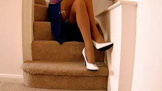 Split Skirt Lace Knickers