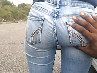 Soft Asian Teen Bubble Butt Grope in Jeans