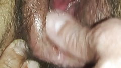 Play with K's hairy pussy