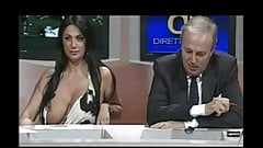Big tits slip on tv