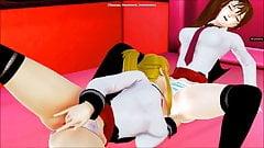 Imari and Saeki 3d hentai