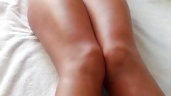 Funny wife on the bed