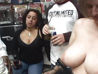 Tat Shop Orgy Night-Pubes inked-Tits pierced-MILFs fucked