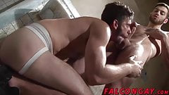 Horny hunk with sexy ass gets mouth and ass fucked hard