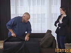 Babe has interracial anal