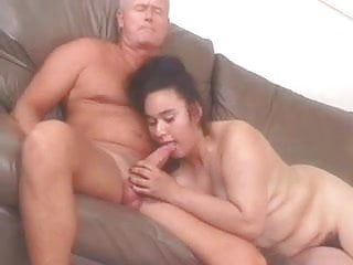 Sexy Hairy Chubby Girl seduced by Old Man