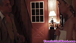Stranded 18yo filmed on spycam by stalker