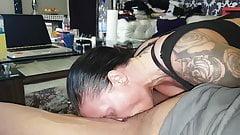 Cum on face deepthroat