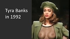 Tyra Banks - 19 yo with visible tits in 1992