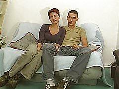 Gorgeous amateur young couple fisrt blowjob on camera