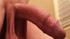 her veiny cock is dripping hot cum