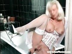 I am Pierced granny with pussy piercings Anal toys play