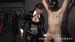 Koch Wurst Femdom Ball busting featuring Baroness Essex