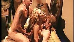 Sexy blondie sucks a huge hard cock