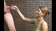 Gorgeous girl handjob for Lol man.