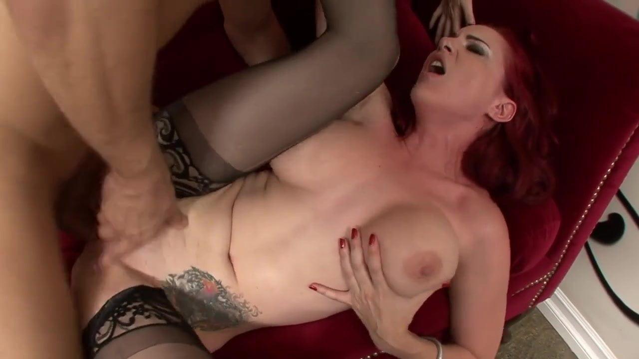 Redhead and big tits