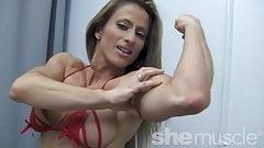 Sexy Pro Female Bodybuilder Maria G Peek-a-Boo Strip's Thumb