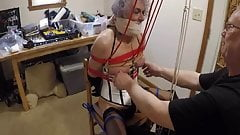 Ronni's Box-Tie $ Breast Torture by PaBondage PART 2