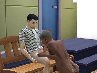 Korean boy services nasty old lady