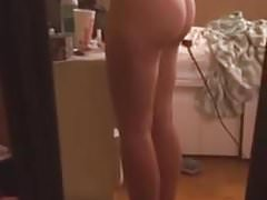 Teen striptease ass