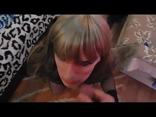 sexy crossdresser fucked in her ass and cummed on face