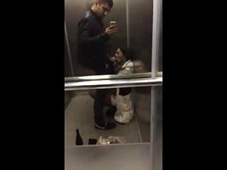 GF Swallows My Cum In the Elevator